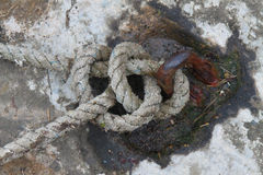 Nautical or marine rope. A detailed study of nautical or marine rope Stock Photography
