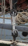 Nautical or marine rope. A detailed study of nautical or marine rope Royalty Free Stock Image