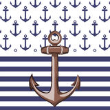 Nautical or marine themed pattern Stock Images