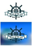 Nautical or marine vintage banner Royalty Free Stock Photos