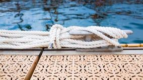 Nautical mooring rope Royalty Free Stock Image
