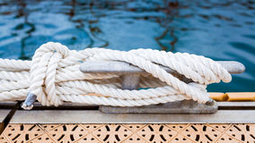 Nautical mooring rope Royalty Free Stock Photo