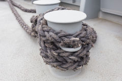 Nautical mooring rope Royalty Free Stock Photos