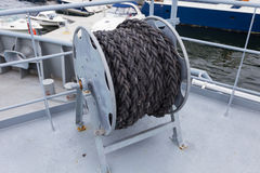 Nautical mooring rope Royalty Free Stock Images