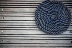 Nautical mooring rope Royalty Free Stock Photography