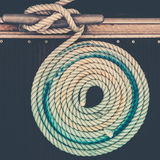Nautical mooring rope Royalty Free Stock Image