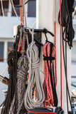 Nautical mooring ropes Stock Photos