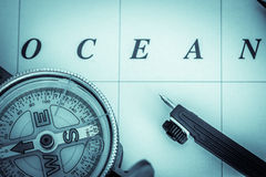 Nautical navigation - landscape format Royalty Free Stock Photography
