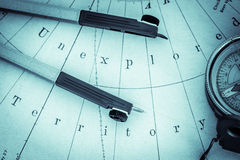 Nautical navigation - landscape format royalty free stock photo