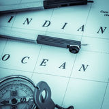 Nautical navigation square format Stock Images
