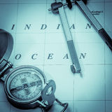 Nautical navigation square format Stock Image