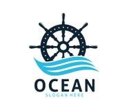 Nautical navy cruise vector logo design. Template Stock Photo