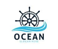 Nautical navy cruise vector logo design. Template Stock Image