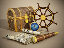 Nautical objects Royalty Free Stock Image