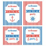 Nautical party invitation Royalty Free Stock Image