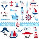 Nautical Party Set Royalty Free Stock Photo