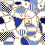 Nautical pattern Royalty Free Stock Image