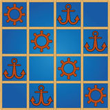 Nautical pattern Stock Photography
