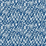 Nautical pattern inspired by fish skin in blue Stock Image