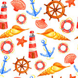 Nautical pattern Royalty Free Stock Photo