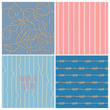 Nautical patterns set Stock Photo