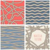 Nautical patterns set Stock Photo