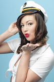 Nautical Pinup Girl Royalty Free Stock Images