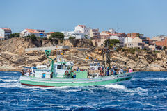 Nautical procession of the Virgen del Carmen (saint of sailors) Stock Image