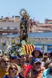 Nautical procession of the Virgen del Carmen (saint of sailors) Stock Photo