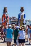 Nautical procession of the Virgen del Carmen (saint of sailors) Stock Images