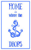 Nautical quote poster Royalty Free Stock Photo
