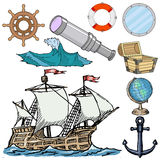 Nautical related objects Royalty Free Stock Images