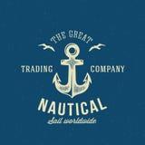 Nautical Retro Vector Logo or Label Template Stock Photography