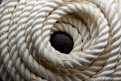 Nautical rope Stock Photo