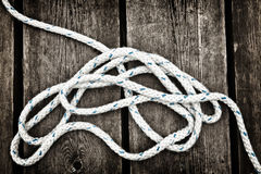 Nautical rope. stock photo