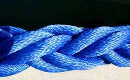 Nautical Rope. In shades of blue Royalty Free Stock Photography