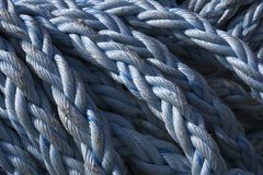 Nautical Rope. Abstract Background Texture Of Weathered Nautical Rope Stock Photo