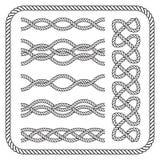 Nautical rope border Royalty Free Stock Image