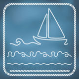 Nautical rope borders Royalty Free Stock Photography