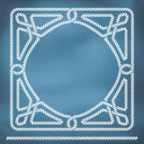 Nautical rope knote border Royalty Free Stock Photos