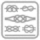 Nautical rope knotes Stock Photo