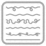 Nautical rope knotes Royalty Free Stock Photos