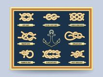 Nautical rope knots Stock Image
