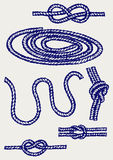 Nautical rope knots. Doodle style Royalty Free Stock Photography