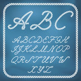 Nautical rope letters Stock Image