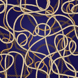 Nautical rope pattern Royalty Free Stock Photography