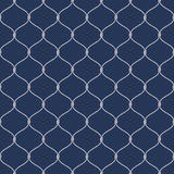Nautical rope seamless fishnet pattern on dark blue background Stock Images