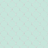 Nautical rope seamless fishnet pattern on light blue background Stock Images