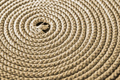 Nautical rope in spiral. Nautical Rope. Boat's thick rope in spiral Royalty Free Stock Images