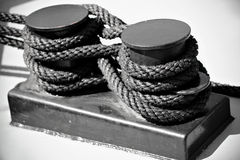 Nautical rope tied as figure eight Royalty Free Stock Photography